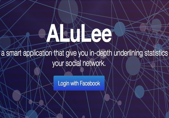 Alulee is a smart application that give you indepth underlining statistics about your social network.